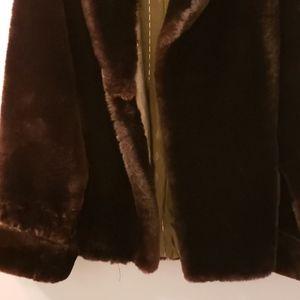 Vintage Black/Brown Fox Fur Coat Jacket